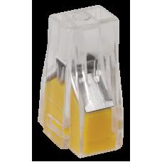 Зажим безвинтовой 2x(1-2.5мм2) прозрачный IEK (100)