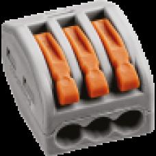 Зажим безвинтовой рычажковый 3x(0.08-2.5мм2) Navigator (50)