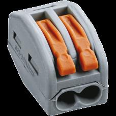 Зажим безвинтовой рычажковый 2x(0.08-2.5мм2) Navigator (50)