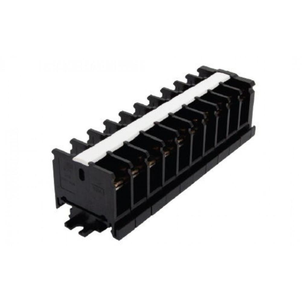 Блок зажимов 30А 10пар до 4мм2 DIN БЗН TDM (10)
