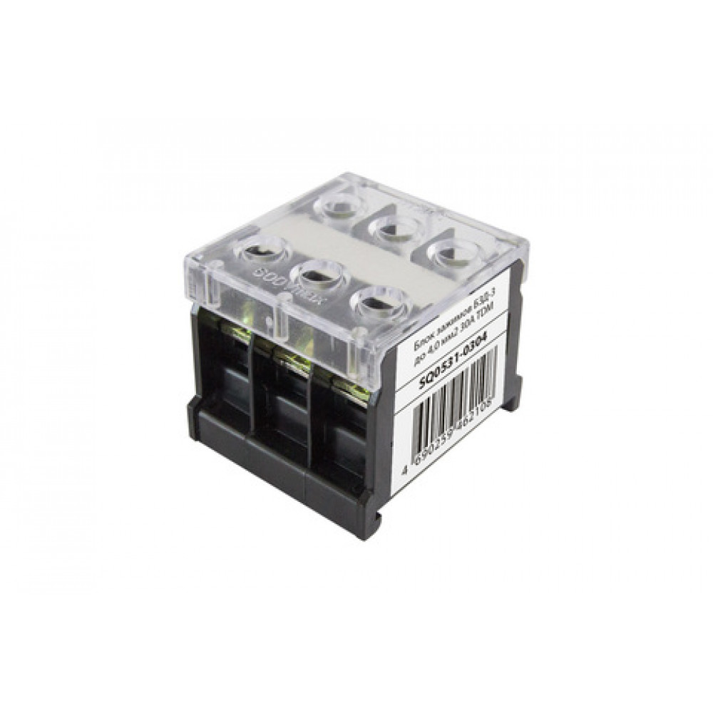 Блок зажимов 30А 3пар до 4мм2 БЗД-3 TDM (12)