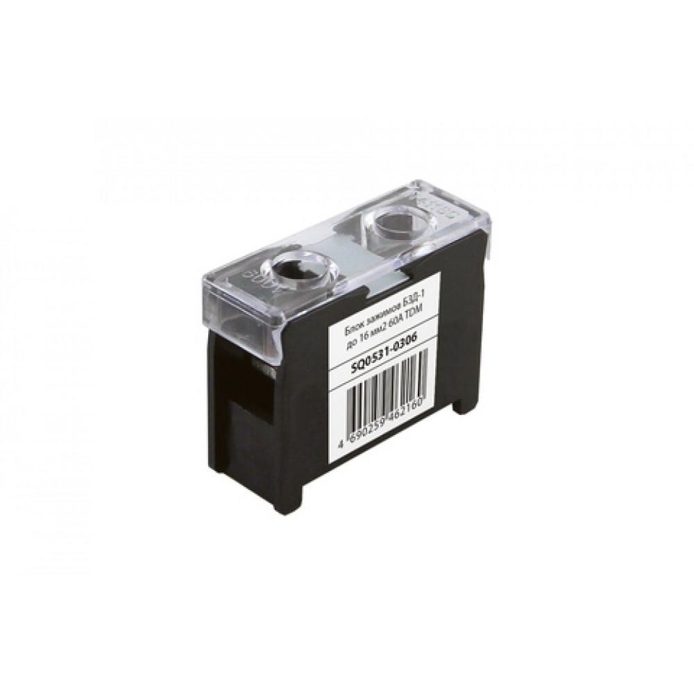 Блок зажимов 60А 1пар до 16мм2 БЗД-1 TDM (20)