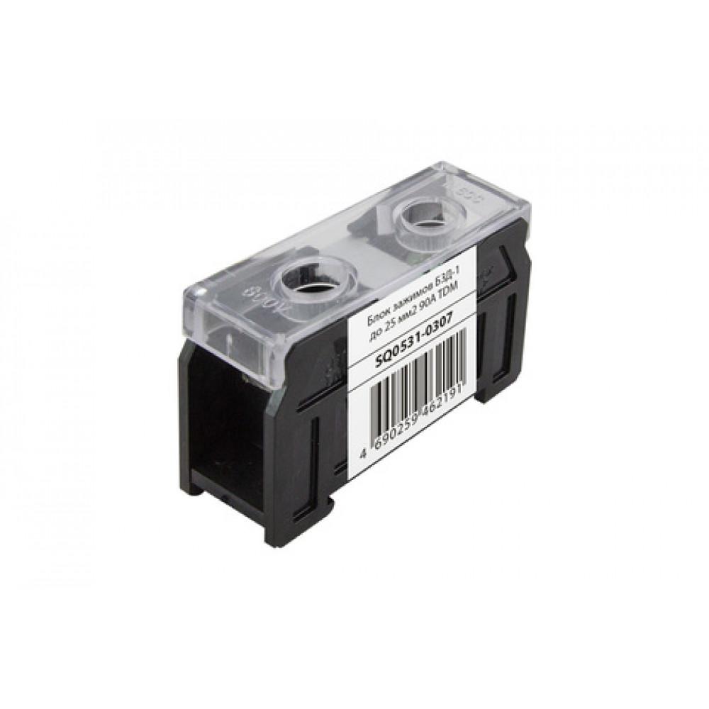 Блок зажимов 90А 1пар до 25мм2 БЗД-1 TDM (10)